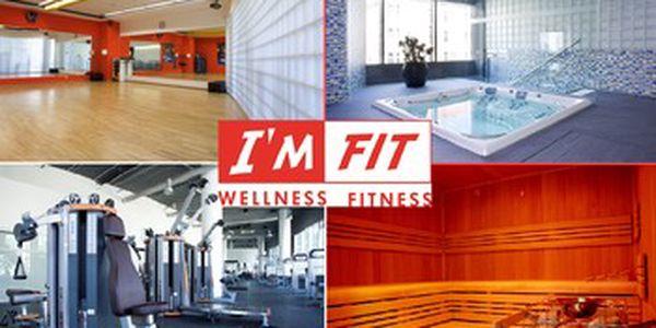 Užívejte si výhod moderního wellness fitness centra I´M FIT TŘI MĚSÍCE za cenu jednoho! Protáhněte se na zumbě a spinningu, zacvičte si ve fitku nebo zrelaxujte v sauně či vířivce za 2 100 Kč místo 6 300 Kč s 67% slevou!