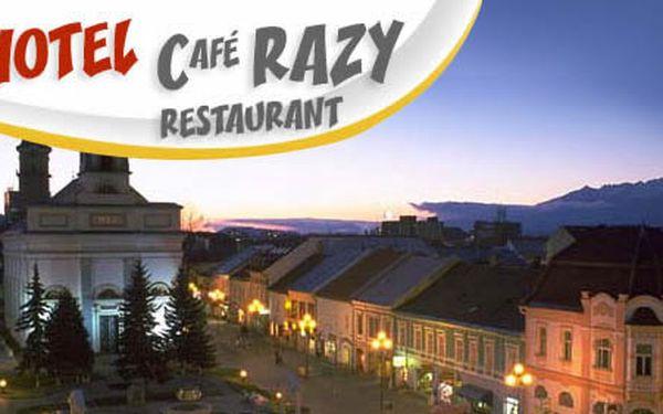 Pobyt na 2 noci pre 2 osoby s raňajkami v Hoteli Café Razy len za 55€. Nenechajte si ujsť jedno z najkvalitnejších ubytovaní v historickom Poprade so zľavou až 53%!
