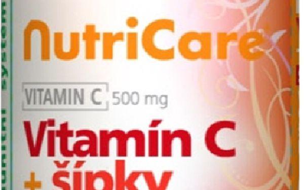 ! Pouze 119,-Kč za Nutricare Vitamín C 500 mg + šípky 60 Tbl. ! Zdarma měsíční balení 30 tbl. !