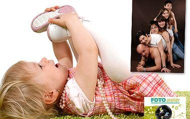 Nechte se zvěčnit od zkušené fotografky v profesionálním fotoateliéru! Focení dětí, miminek, budoucích maminek, rodinné foto či portrét s 50% slevou!