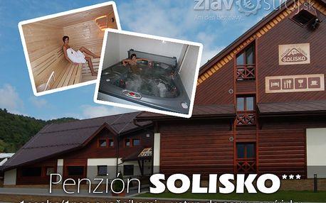 Ubytování v penziónu Solisko*** v Zázrivej, pro 1 osobu na 1 noc, se snídaní a vstupem do sauny a vířivky nyní jen za 525,00CZK
