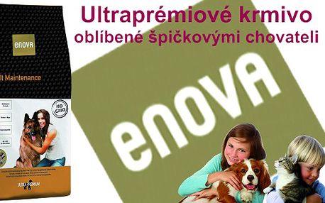 Výjimečná nabídka pro vaše miláčky!!! 684 Kč za 15 kg ultraprémiového krmiva ENOVA Maintenance