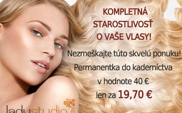 Nechajte si rozmaznávať Vaše vlasy! Permanentka na všetky kadernícke služby v salóne Lady Studio v hodnote 40 € len za 19,70 €