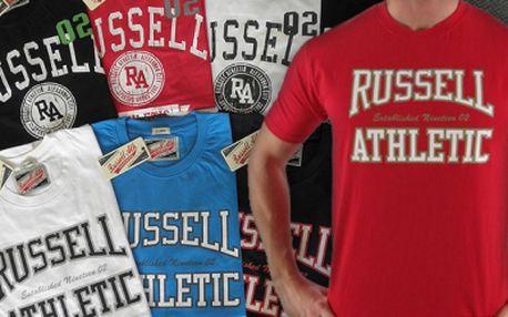Pánská sportovní trika Russell Athletic za super cenu! Skvěle padnoucí a velice příjemné na nošení. Vyberte si barvu a styl, dostupné velikosti M - XXL! Vhodné jako dárek!
