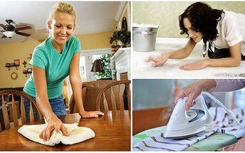 Nechte za sebe uklidit profesionála a to za pouhých 90 Kč na hodinu práce! Vybírejte: Běžný jednorázový úklid, generální úklid, úklid po malování či řemeslnících, ale také žehlení! Nechte své starosti s úklidem na jiných a to s úžasnou 55% slevou!!