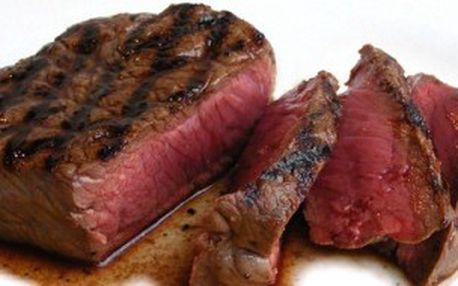 Jen 149 Kč za 250g rump steak se šťouchaným bramborem a smetanovou hříbkovou omáčkou! PrimaMenu a pivečko nebo vídeňská káva k tomu až s 51% primaslevou!