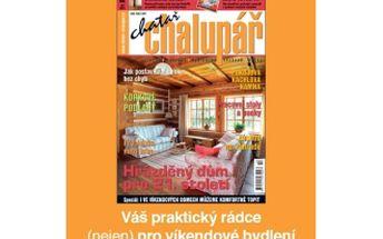"""49% jen 252,-Kč za roční předplatné časopisu """"Chatař a chalupář"""", časopis pro všechny, kteří chtějí mít krásnou chatu nebo chalupu. Váš praktický rádce (nejen) pro víkendové bydlení."""
