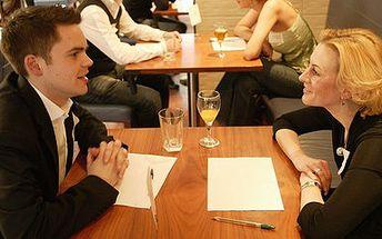 Speed Dating - poznejte na rychlém rande svého životního partnera nebo partnerku. Cena 145,- Kč (sleva 62%).