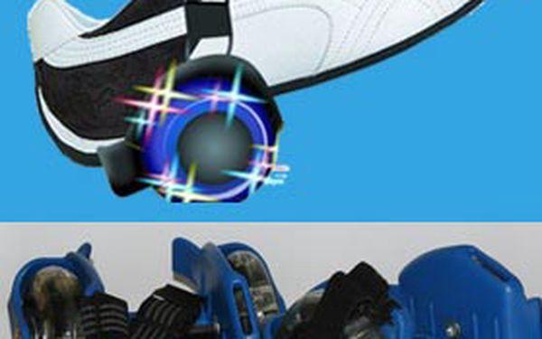 Skvělých 220,-Kč za dětská svítící kolečka k nasazení na boty. Dopřejte Vašim dětem potřebný pohyb zábavnou formou! Ideální dárek k dětskému dni se slevou 51%!!!