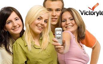 Voucher, který vám zaručí slevu 50% na telefonní tarif Victory PREMIUM!
