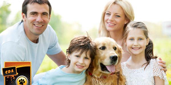"""600 Kč (běžná cena 1300 Kč) za seminář Rodinný pes v délce trvání 8 hodin od Czech Dog Academy - pozitivní motivace, komunikace se psem, chůze na vodítku, odnaučení skákaní po lidech a další nešvary. Poznejte, že rčení """"starého psa novým kouskům nenaučíš"""""""