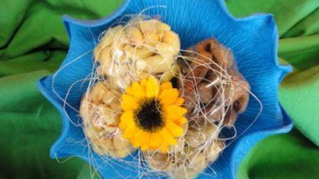 Jen 75 Kč za květinu plnou oříšků. Obdarujte vaši paní učitelku květinou, která zaručeně neuvadne! Spousta druhů oříšků a polev na vás čeká v Ráji oříšků se 40% primaslevou!