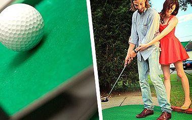Objevte v sobě golfového mistra - 2 hodiny minigolfu za 25 Kč! Sport skutečně pro každého, ale s odpálenou slevou pouze pro vás!