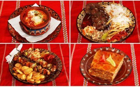 Zakupte voucher za pouhých 39 Kč a získejte tak 50% slevu na 7 specialit na lávovém grilu i s přílohou dle vašeho výběru! Vybírat můžete i z pěti míchaných salátů - vše z výtečné bulharské kuchyně v Restauraci U Starýho Kočárka!