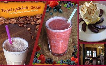 Za neskutečnou cenu 60 Kč si vychutnejte osvěžující Frappé s příchutí nebo Ovocné Frappé! K tomu navíc získáte Opilou hrušku se zmrzlinou jako dessert! Vychutnejte si sladké mlsání ve stylovém Café&Tapas Toledo a to s 50% slevou!!