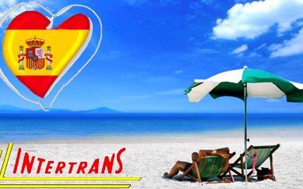 Dopřejte si týdenní pobyt ve Španělsku s polopenzí v termínu 10.–19.6.2011 za jedinečnou cenu 5990 Kč!!! Načerpejte energii na sluncem vyhřátých plážích, odpočívejte ve stínu palmové promenády nebo poznávejte historické památky na některém z fakultativníc