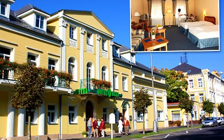 63% sleva na romantické **** ubytování pro 2 osoby v centru Františkových Lázní, včetně degustačního 5chodového menu, neomezeného vstupu do bazénu s vířivkou a 50minutového vstupu do solné jeskyně!