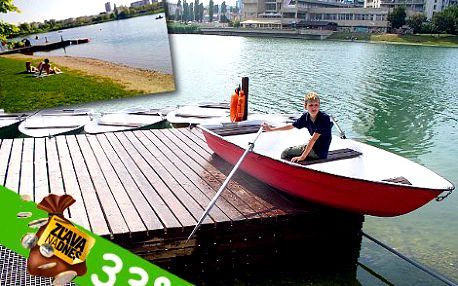 Zábava a relax s priateľmi. Člnkovanie na Štrkoveckom jazere v Bratislave. Ponúkame 6 člnov len za 40 eur!