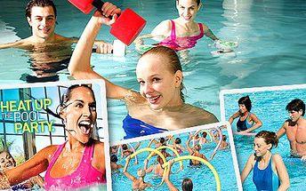 Ukažte, jaký jste vodní živel. Zacvičte si Aqua Zumbu nebo Aqua Aerobic! Užijte si vodní hrátky a k tomu 30-ti minutový vstup do posilovny za hravých 59 Kč.