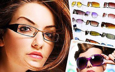 Sluneční a dioptrické brýle luxusních značek dle vlastního výběru s 50% slevou. Sundejte staré brýle! Zostřete zrak a přijďte si k nám pro nové!