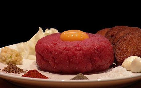 Neuvěřitelných 65 Kč za 100g TATARÁK včetně topinek! Máte chuť na čersvý tatarák z kvalitního masa? Nyní Vám ho nabízíme se slevou 62 %. Přijďte si pochutnat a odpočinout třeba u šipek nebo kulečníku. Wi-fi zdarma!