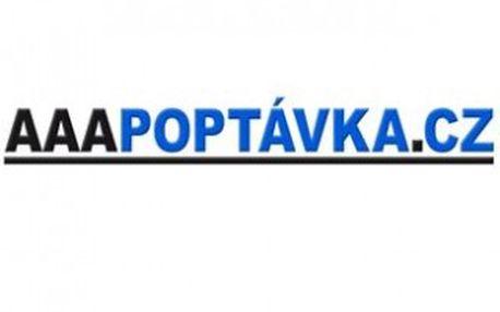 Výhodný balíček služeb AAAPOPTÁVKA.CZ s 20 % slevou. Poptávky s kontaktem + Firemní zápis PROFI v katalogu dodavatelů na www.aaapoptavka.cz.