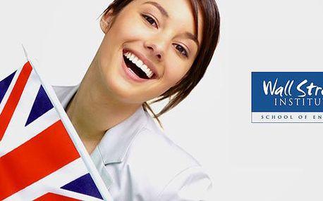Angličtina - 72% sleva za vstupní konzultaci s odborníkem, test jazykové úrovně a 2 konverzační hodiny navíc! Zjistěte jak jste na tom se svými jazykovými znalostmi angličtiny ve Wall Street Institutu v Praze.
