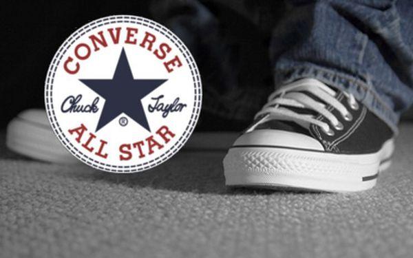 Veškeré zboží Converse za 50%! Vouchery v hodnotě 400 Kč jen za 200 Kč!