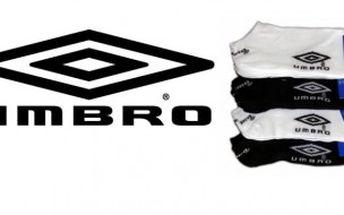 """Jen 79 Kč za 3 páry značkových ponožek UMBRO! Vybavte se na léto a buďte """"nenápadní"""" s 60% primaslevou!"""