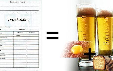 Študáci pozor! Oslavte konec školního roku pivem a tatarákem!