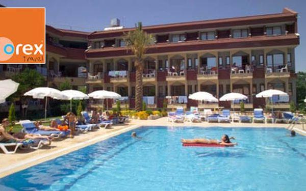 8 dňový pobyt pre 1 osobu na tureckej riviére v hoteli Queen Victoria 3* All inclusive len za 299€. Oddychujte pri mori v orientálnej krajine v letovisku Kemer so zľavou 33%.