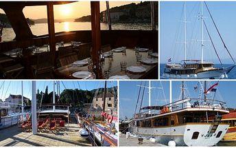 Užijte si týdenní plavbu po Jadranu na luxusní jachtě Vjeko v termínu 9.7. - 16.7. 2011 na 7 nocí včetně polopenze a ubytování v luxusních, klimatizovaných kajutách s vlastním sociálním zařízením v akční ceně pouze za 18.152 Kč!