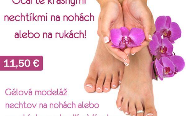 Krásne gélové nechtíky na rukách alebo na nohách priamo u Vás doma za skvelú cenu len 11,50 € (hodnota 23 €)
