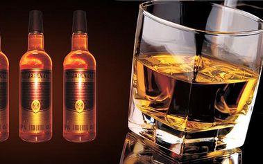 50% sleva na 3 lahve Single Grain Whisky Imperator s původní originální recepturou. Žádná barviva, dochucovadla ani cukr, doprava ZDARMA! Přesvěčte se, že Češi umí dělat nejen pivo, ale i whisky! 3 lahve o obsahu 0,7l se 40 % alkoholu přímo od výrobce!