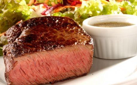 Argentinský rumpsteak 200g s červenými fazolkami v barbecue omáčce za skvělých 99 Kč. Vychutnejte si pořádný kus skvělého masa se slevou 50%!