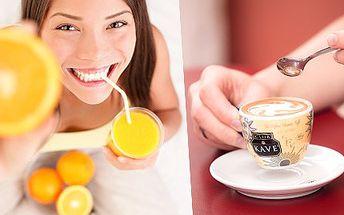 Opravdový kávový zážitek s 50% slevou. Italské espresso jak má být. Dejte si jediné pravé italské espresso v Brně s licencí výroby a k němu juice z čerstvých pomerančů.