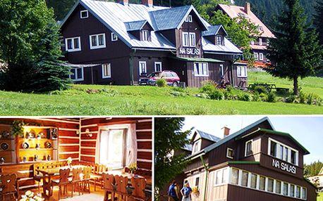 Romantika a relax uprostřed Krkonoš se 42% slevou: Jen 1459 Kč za 3 noci pro DVĚ osoby včetně domácí stravy a mnoha slev na wellness!