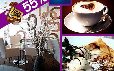 Príďte si oddýchnuť pri dobrej káve a zamaškrtiť na palacinkách do AQUA Wi-Fi coffee & restaurant už za 3,90 €!