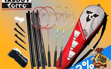 Ideálny badmintonový set na voľný čas a dovolenky pre celú rodinu u nás len za 19,99 eur.