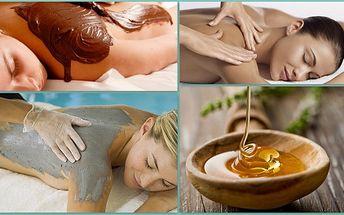 Milujte a hýčkejte svoje tělo! Za pouhých 449 Kč si vyberte z pěti lázeňských procedůr salonu Andělský ráj! Je libo relaxační masáž zad spojenou s medovým zábalem? Nebo dáte přednost čokoládové masáži a zábalu? Relaxujte po svém s 55% slevou!!