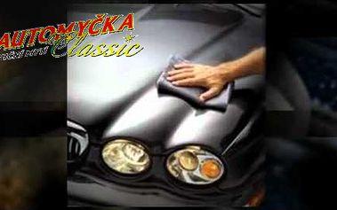 Ruční mytí vozu včetně vyleštění světlometů, čištění textilních nebo tepování gumových koberečků!