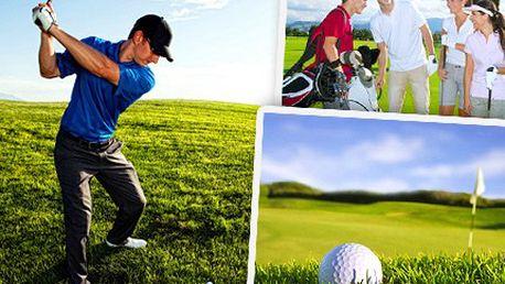 Vypilujte svůj švih a staňte se mistrem greenu. Přijďte si s přáteli zahrát golf a aktivně si odpočiňte se slevou 62%.
