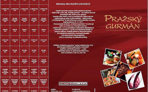 399 Kč za knížku plnou slev do restaurací - Pražský gurmán - 84% sleva