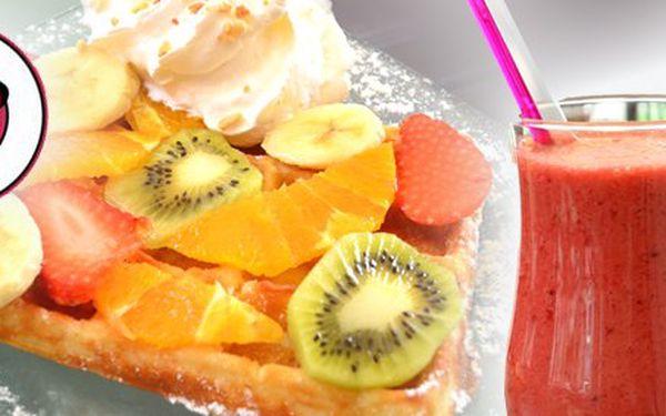 2,17 Eur za osviežujúci fresh džús alebo jogurtové smoothie a sladučkú belgickú waflu s prílohou podľa vášho priania. Duo dokonalých chutí so zľavou 50%!
