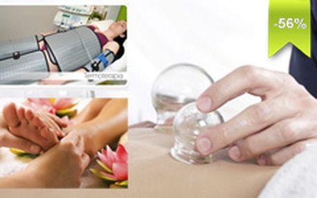 Kombinovaná masáž – termoterapia a bankovanie a na záver 10 min. reflexná akupunktúrna masáž chodidiel po 56 % zľave teraz za vynikajúcu cenu 16 € (pôvodná cena terapie 36 €)