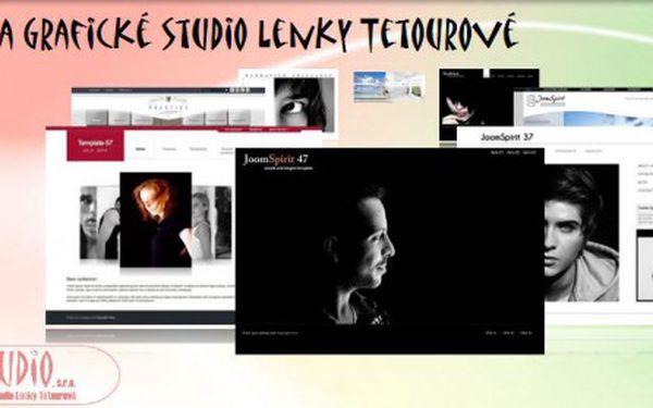 Webové a grafické studio Lenky Tetourové Vám nabízí vytvoření webových stránek DESIGN s perfektním vzhledem a množstvím funkčních prvků za skvělou cenu 5 500 Kč vč. DPH!