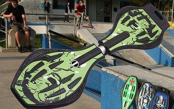 ABSOLUTNÍ NOVINKA WAVEBOARD jen za 672 Kč. Originální Waveboard je něco mezi snowboardem a skateboardem, který Vám poskytne zážitek ze surfování jako nikdy předtím.