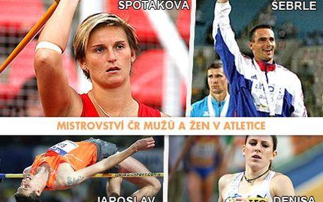 Podpořte naše sportovce na Mistrovství ČR v atletice a fanděte Báře Špotákové a dalším sportovním hvězdám. Přijďte se na ně podívat a pořádně fandit s 50% slevou, tak neváhejte!