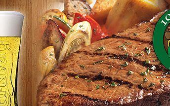 112 Kč za vepřový steak s přílohou a pivo Carlsberg 12° (0,4l) ve stylovém baru 100dola! Vychutnejte si štavnatý kus vepřového, kterému zdatně sekunduje sklenice zlatavého moku, to vše v srdci Ostravy a za poloviční cenu!