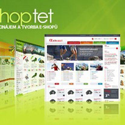 Štve vás šéf? Začněte podnikat a založte si internetový obchod. Pronajměte si pro začátek na půl roku profesionální e-shop Shoptet Profi od jednoho z největších dodavatelů v ČR. Nyní je to tak snadné! Se slevou 92 % pouze za 899 Kč za 6 měsíců.